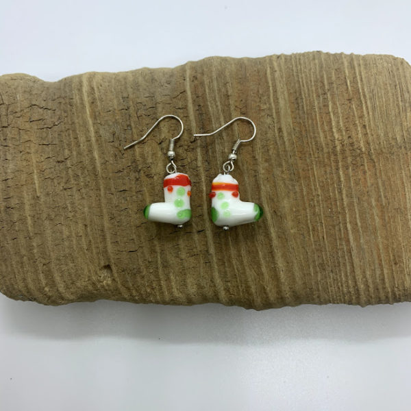 Christmas Stocking Dangling Earrings