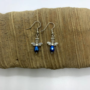 Blue Angel Dangling Earrings