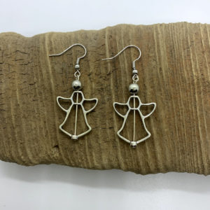 Angel Outline Dangling Earrings
