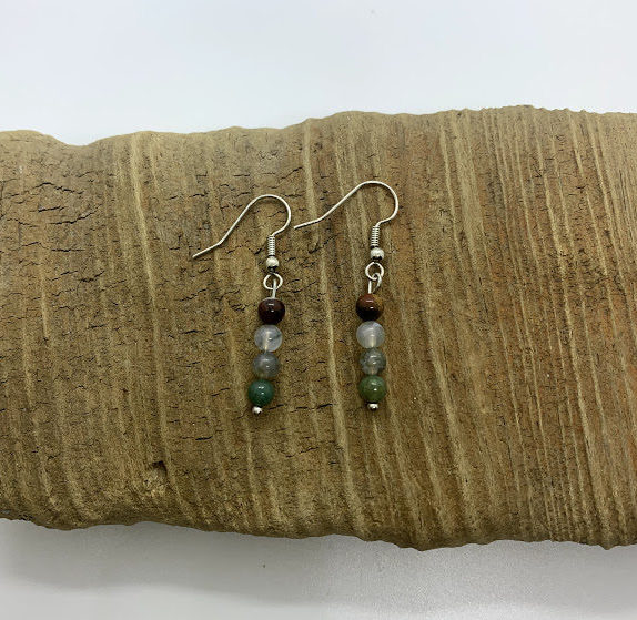 Earth Tones Dangling Earrings