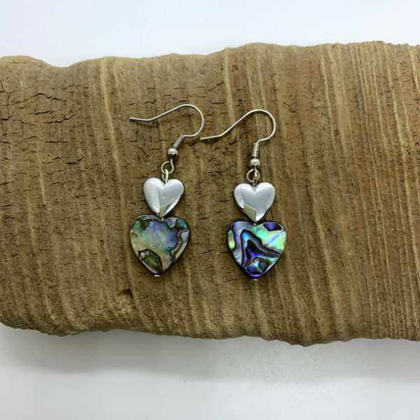 Swirled Hearts Dangling Earrings