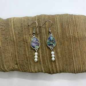 Swirled Bead Dangling Earrings