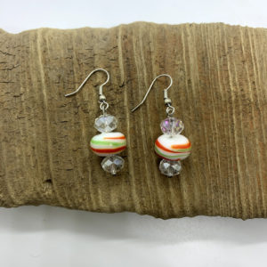 Christmas Swirled Dangling Earrings