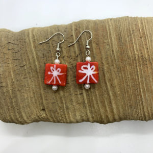 Christmas Present Dangling Earrings