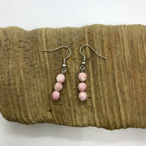 Pink Stacked Dangling Earrings