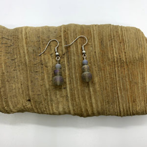 Purple Stone Dangling Earrings