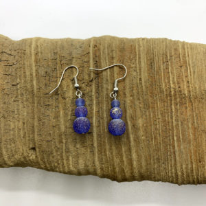 Tiered Blue Stone Dangling Earrings