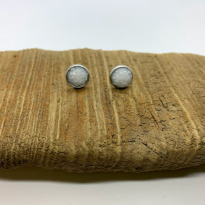 Solid White Stud Earrings