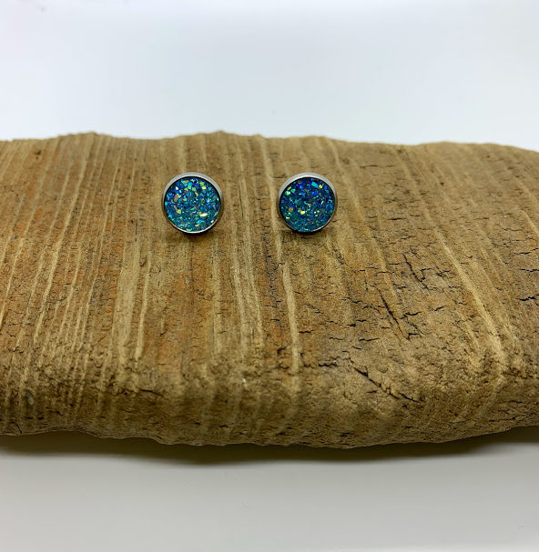 Light Turquoise Stud Earrings