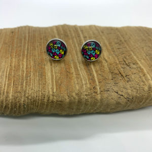 Patterned Skull Stud Earrings