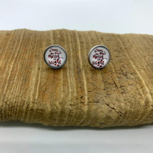 """May Your Days be Merry and Bright"" Stud Earrings"