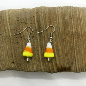 Candy Corn Dangling Earrings