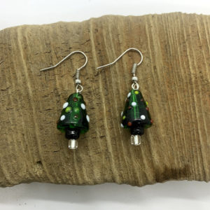 Christmas Tree Dangling Earrings
