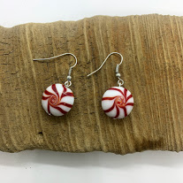 Peppermint Dangling Earrings