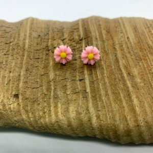 Light Pink Daisy Stud Earrings