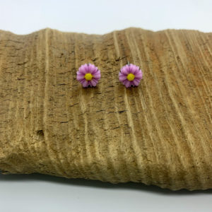 Light Purple Daisy Stud Earrings