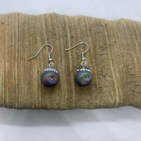 Crystal Ball Dangling Earrings