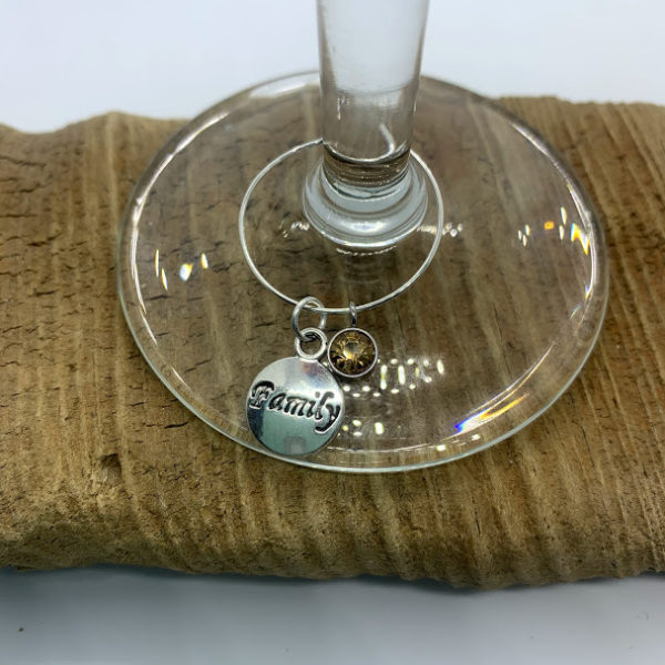 Five Piece Thanksgiving Wine Charm Set