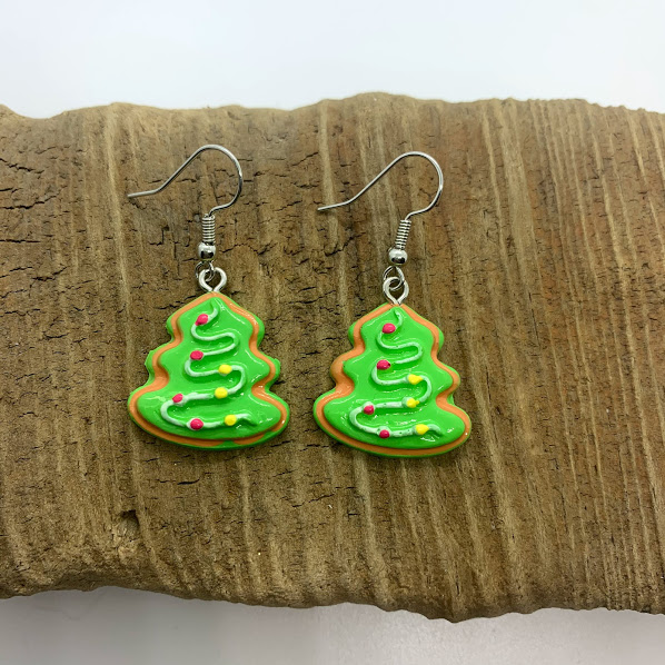 Christmas Cookie Dangling Earrings