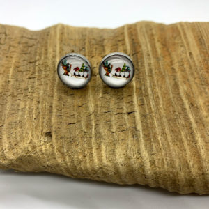Christmas Gnome Stud Earrings
