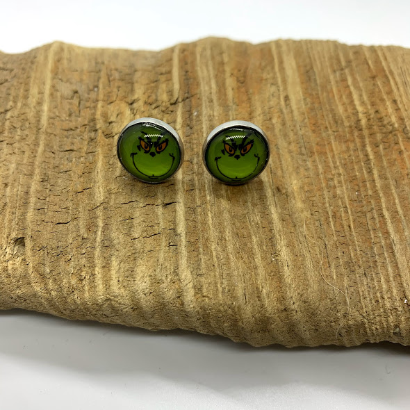 Mean One, Mr. Grinch Stud Earrings