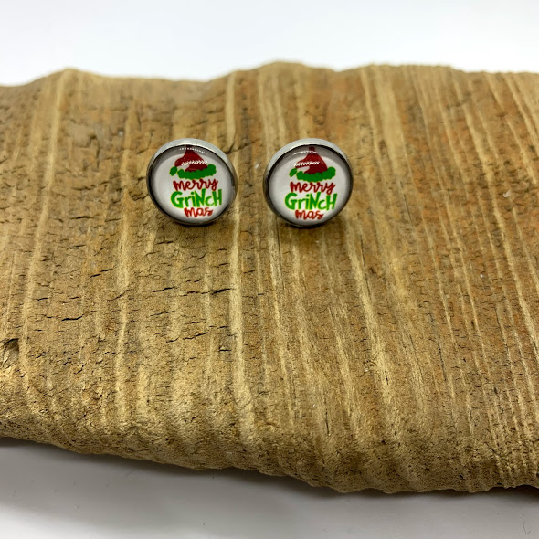 Merry Grinchmas Stud Earrings