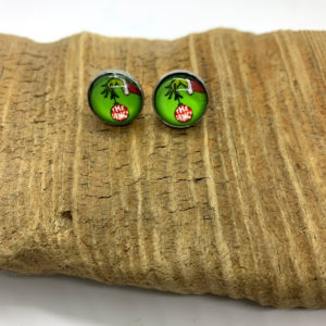 The Grinch Ornament Stud Earrings