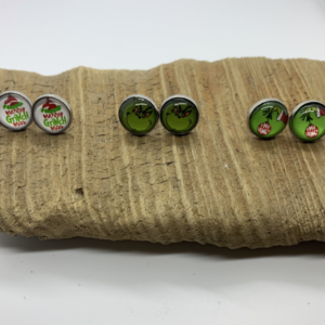 Three Pack Grinch Stud Earrings