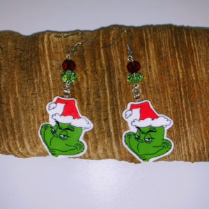 The Grinch Dangling Earrings