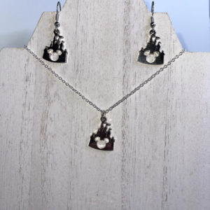 Mickey Castle Necklace and Earring Set