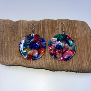 Rainbow Irridescent Dangling Earrings