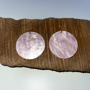 Pink Irridescent Dangling Earrings
