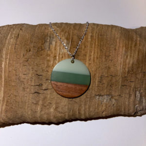 Green and Wooden Necklace