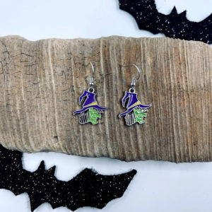 Scary Witch Dangling Earrings